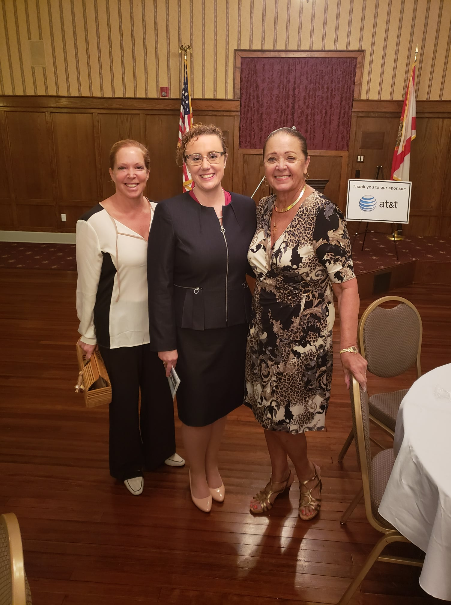 Tracey Zudans, Erin Grall and Carole Jean at a Legislative Luncheon hosted by the Indian River County Chamber of Commerce