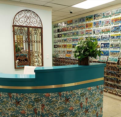 Oceanside reception area